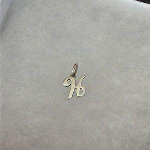 james avery jewelry monogram letter h scroll cursive dangle 925 charm